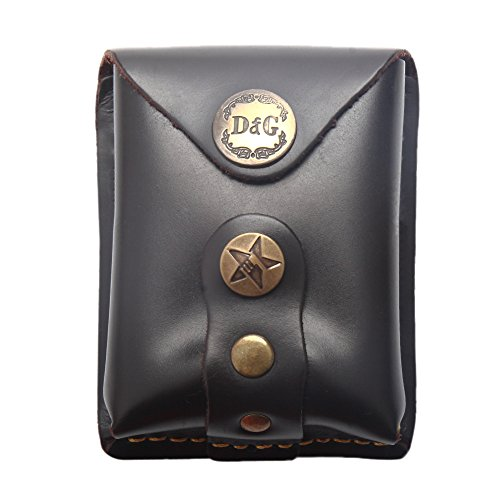 Steel Slingshot Ammunition - CyberDyer Genuine Leather Magnet Ammo Pouch For Slingshot Stainless Steel Bag Case (Coffee)