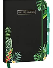 """Bullet Journal """"Aloha"""" 05 mit original Tombow TwinTone Dual-Tip Marker 86 mint green: Mit Punkteraster, Seiten für Index, Key und Future Log sowie ... praktischem Verschlussband und Innentasche"""