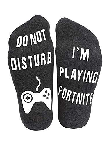 Unisex Socks Casual Funny Letter Ankle Socks for Women Men, Im playing fortune Black