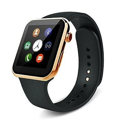 Android Reloj Bluetooth Iphone Salud monitor de ritmo cardíaco relojes ultra delgada del cuerpo de aleación
