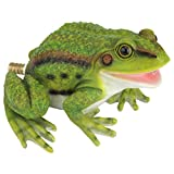 Design Toscano QM75110531 Friendly Frog Piped Toad Spitter Statue, full color