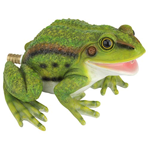 Design Toscano QM75110531 Friendly Frog Piped Toad Spitter Statue, Full Color ()