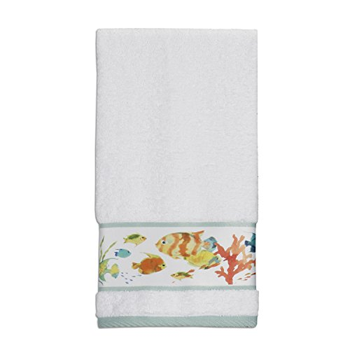 """Creative Bath Products Rainbow Fish Hand Towel, 27"""" x 16"""""""