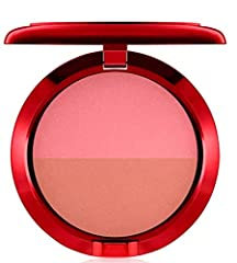 Powder Blush Duo features soft coral peach and bright midtone pink shades. Designed by professionals. Applies evenly and adheres lightly to skin to achieve natural-looking color. Decorative packaging features a peony-adorned metallic red desi...