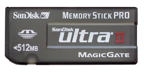 SanDisk SDMSPH-512-A10 512 MB Ultra II Memory Stick PRO Card (Retail Package) by SanDisk