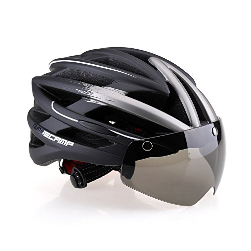 Base Camp Cycling Bike Helmet With Detachable Magnetic Visor