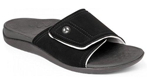 Orthaheel Men's / Women's Kiwi Slide Sandals (Men 7 & Women 8/Black & Grey)