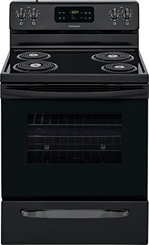 Frigidaire FFEF3016UB 30 Inch Freestanding Electric Range with 4 Coil Elements, 5.3 cu. ft. Primary Oven Capacity, in Black
