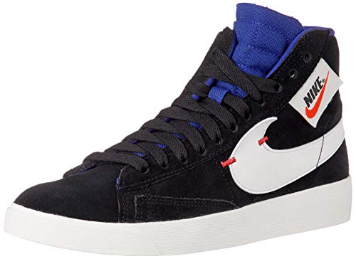 Nike Women's Blazer MID Rebel Black/Deep Royal Blue/Ember Glow/Summit White BQ4022-005 (Size: 7.5)