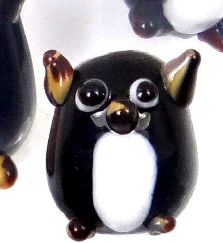 - 4 Lampwork Handmade Glass Lovely Penguin Beads 16mm