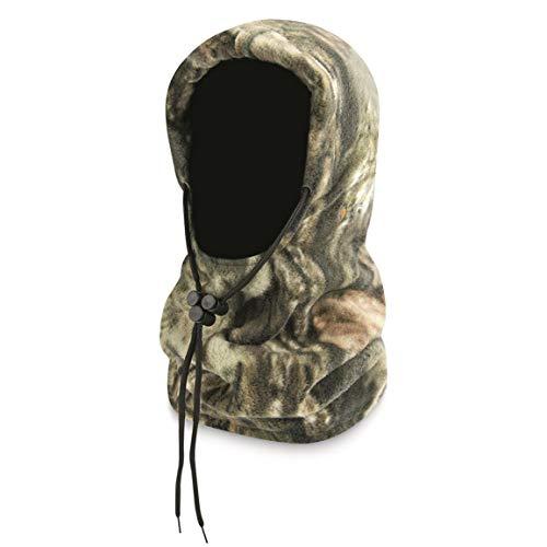 Guide Gear Camo Fleece 4-in-1 Hood, Mossy Oak Break-Up Country, One Size Fits Most