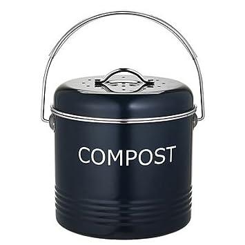 Komposteimer für die Küchenanrichte in Schiefergrau, 3.5 Liter ...