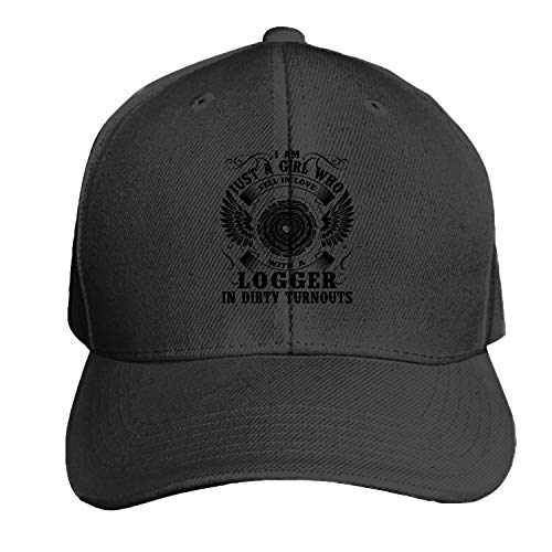 Fell in Love with A Logger Men's Structured Twill Cap Adjustable Peaked Sandwich Hat ()