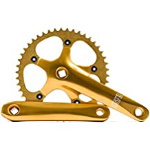 State Bicycle Co. Fixed Gear / Single Speed Bike Crankset, Lightweight Aluminum Alloy, 46T, Various Colors