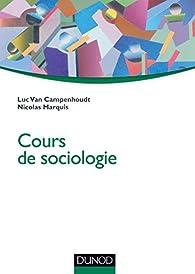 Cours de sociologie par Luc Van Campenhoudt