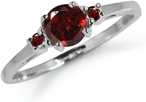 Petite Natural Garnet 925 Sterling Silver Ring
