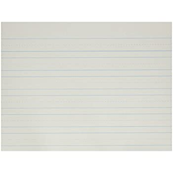 Amazon.com : School Smart Cursive Ruled Notebook Paper with Margin ...