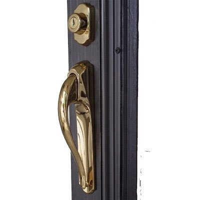 Storm Door Pull Handle Lockset 3/4'' Thick Door Bright Brass by International Resouces, Inc (Image #4)