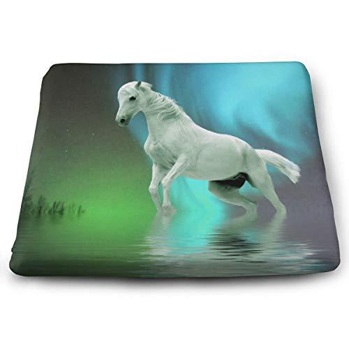 Comfortable Seat Cushion Chair Pad Aurora Horse Perfect Memory Foam Cushions Lighten The Bumps