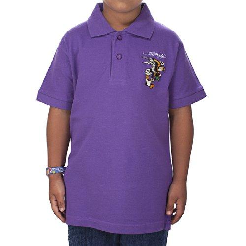 - Ed Hardy Little Boys' Eagle Polo Shirt - Purple - 5/6