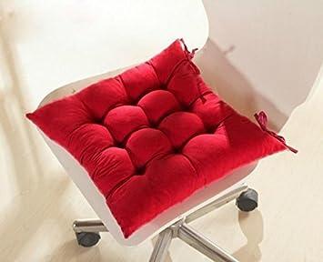 fendii suave silla cojín asiento cojín asiento silla de comedor de jardín de cocina 40 x 40 x 8 cm