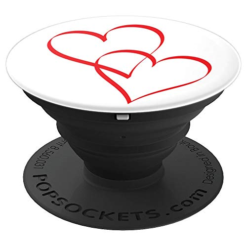 - Embracing Love Hearts - PopSockets Grip and Stand for Phones and Tablets