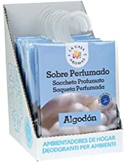 Set de 12 Sobres Perfumados, Bolsitas Aromáticas Aroma Algodón, Saquitos para el Armario, Cajón, Ropa de Bebé, Zapatero, Maleta