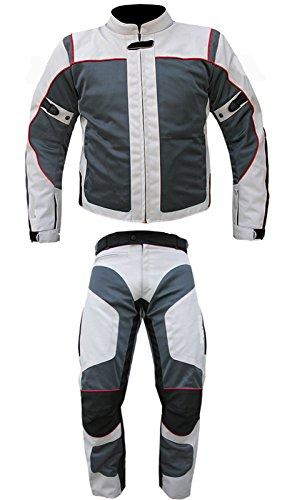 AZ Motorradanzug für Herren/Damen, 2-tlg, CE Armour Cordura Textil,100% wasserdicht, erhältlich in allen Größen