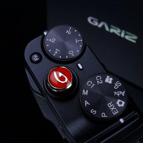 Gariz Metal XA-SB2 Camera Screw Type Soft Button for X-PRO1 X100 X10 LEICA CONTAX, Black and Red