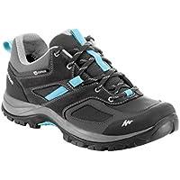 Quechua MH 100 Women's Waterproof Mountain Hiking Shoes - Grey Blue