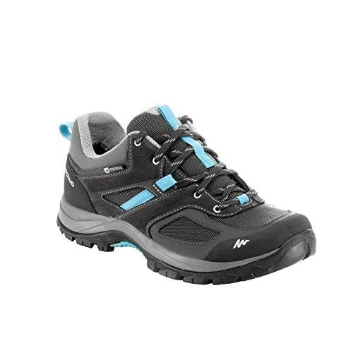 7a26e7dfa7c Quechua MH 100 Women s Waterproof Mountain Hiking Shoes - Grey Blue (EU ...