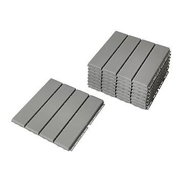 Ikea Bodenplatten Runnen 9 Stuck Terrassenfliesen Je 30x30x2cm 0
