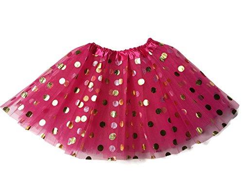 Rush Dance Ballerina Girls Dress-Up Princess Fairy Polka Dots & Ribbon Tutu (Pink Ribbon Tutu)
