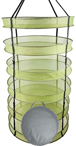 - HORTIPOTS' Collapsible Herb Drying Rack, 2.5 ft Hanging Dry Net Rack for Hydroponic Herb Pot Vegetable Fruit Flower Buds or Clothes Laundry