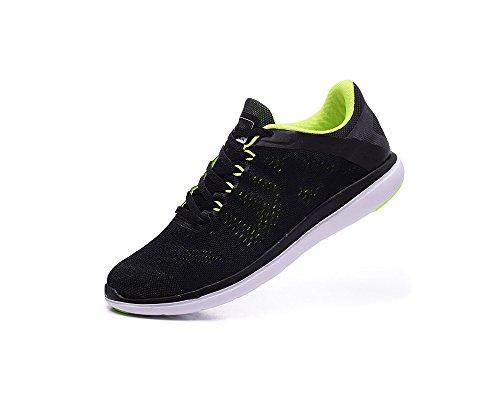 Men's 2016 Rn Shoes Flex Running Shoes - Black/Lime