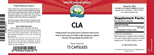 CLA - Lean Muscle Mass, Cholesterol & Weight Control -75 Softgels by Natures Sunshine (Image #1)