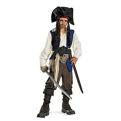Deluxe Captain Jack Sparrow Kids Costume - Small