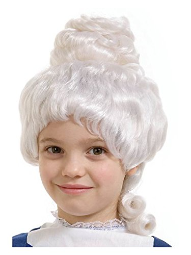 Forum Novelties Mrs. Santa/Colonial Girl Child Wig, White -