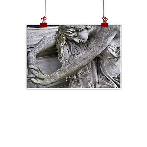 Mangooly Outdoor Nature Inspiration Poster Wilderness Sculptures,Cemetery in Vienna Italy 36