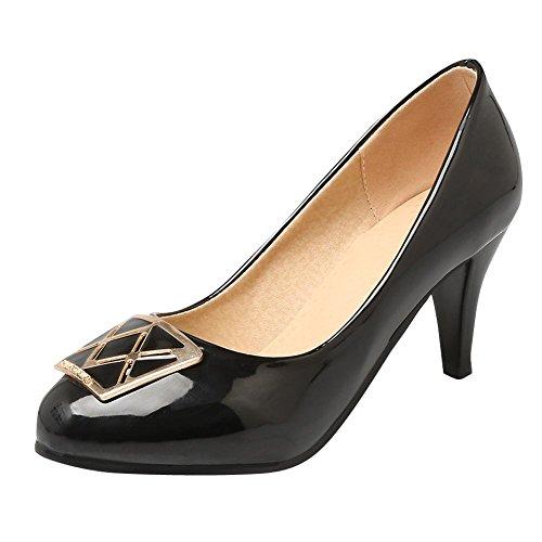 Mee Shoes Damen süß high heels runde Pumps Schwarz