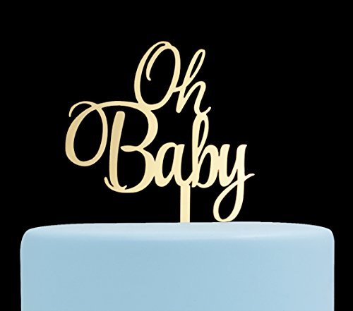 Oh Baby Cake Topper, Baby Shower, Gender Reveal Party Decorations - (Princess Baby Shower Cake)