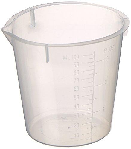 Maryland Plastics L-1230 Polypropylene Disposable Beaker, Graduated, 100 mL (Pack of 100)