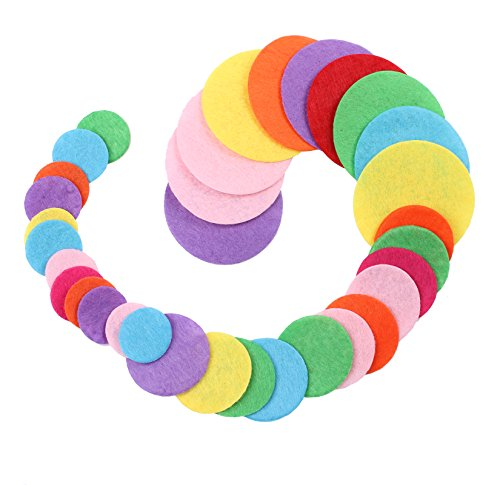 BIHRTC Pack of 300 Mixed Color 3 Different Size Round Felt Circle Felt Pads for DIY and Sewing Handcraft (0.8