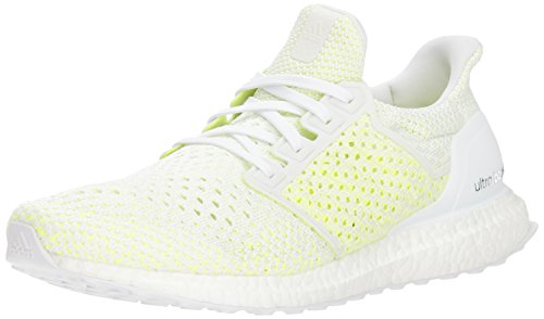 adidas Men's Ultraboost Clima Running Shoe, Cloud White/Cloud White/Solar Yellow, 10 M US
