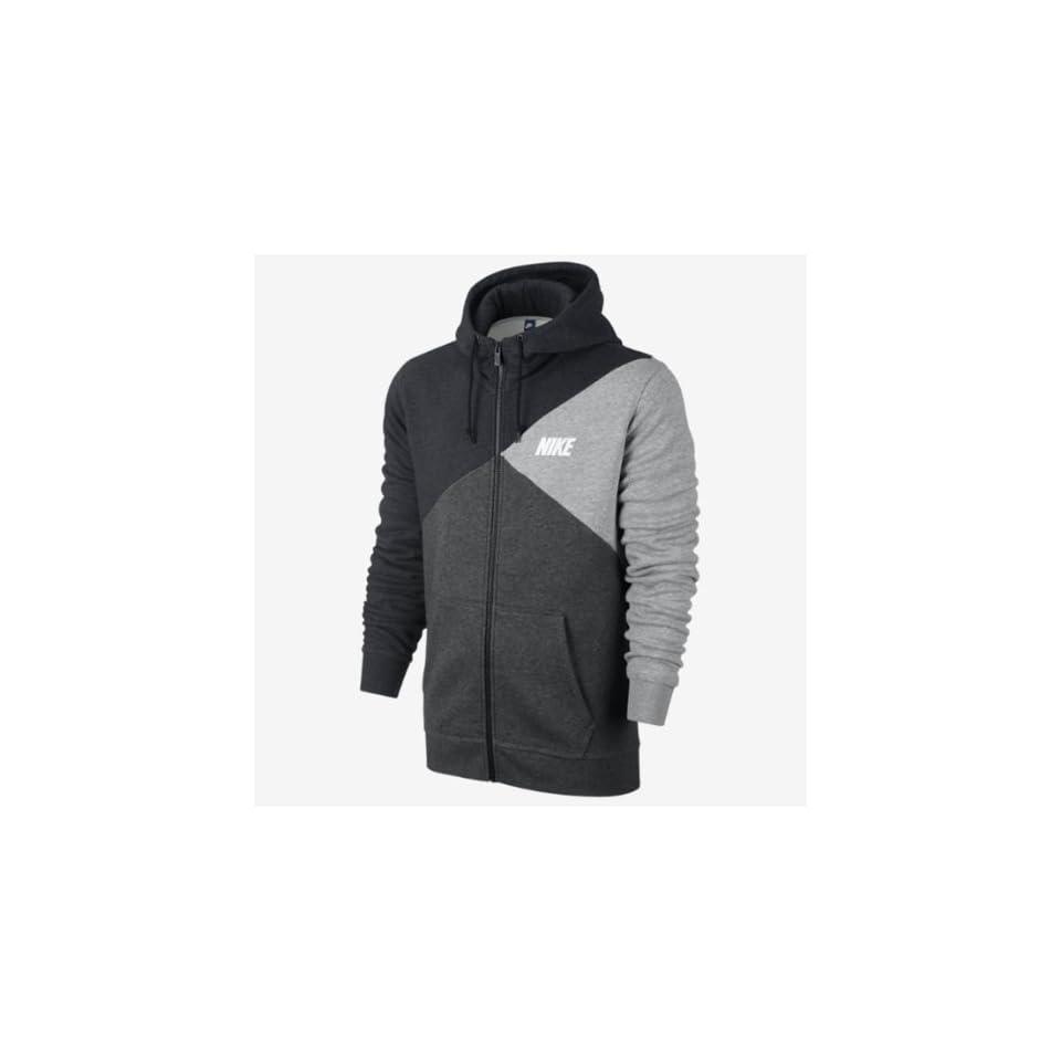 Nike Mens Club Color Block Full Zip #584979 032 (Blk/Drk Gry/Gry)