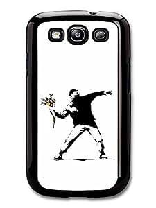 AMAF ? Accessories Flower Thrower Case for Samsung Galaxy S3 Banksy