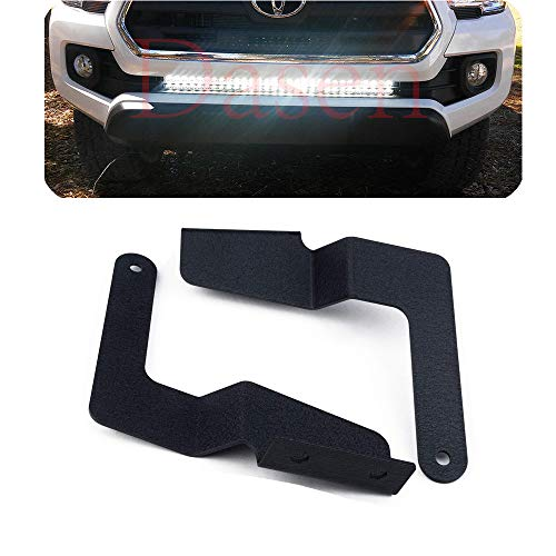 DaSen Lower Hidden Bumper Grille Mount Brackets For 32 Inch LED Light Bar Fit 2016-2019 Toyota Tacoma Pickup 2WD/4WD