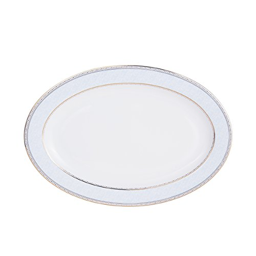 Platter Countryside Round (Mikasa Blaire Bone China Oval Serving Platter, 14-Inch)