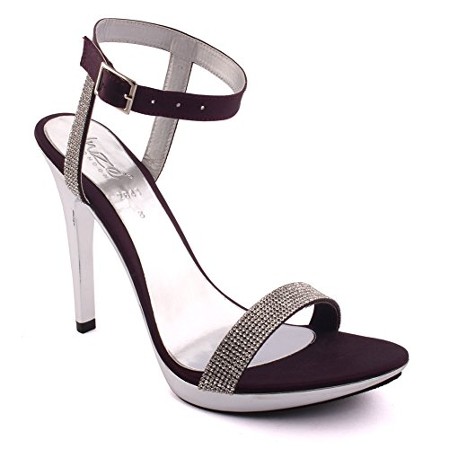 3 Evening Shoes Purple On Sequins 'stella' Uk Ankle Slip Size Sandals Strap Heels Embellished Stiletto Party 8 Wedding Unze Women q4ngAwAF