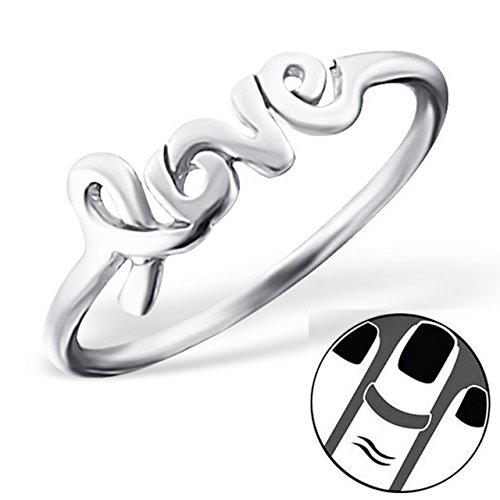 Pro Jewelry 925 Sterling Silver Love Above Knuckle Ring Mid Finger Top 6594